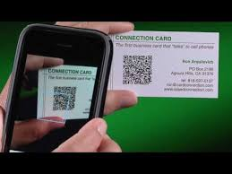 Business card with QR code