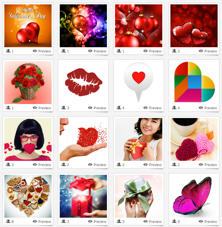 Valentine's Day Visual QR Code Gallery